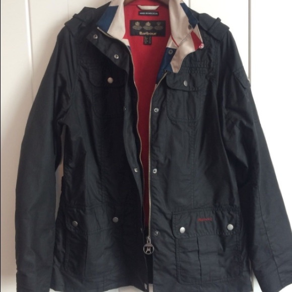 Barbour Jackets Amp Coats Ladies Waxed Cotton Union Jack